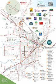 Montana Map Cities maps destination missoula