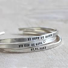 personalized silver bracelets personalized silver cuffs brass silver or gold custom bracelets