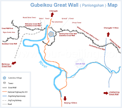 Map Great Wall Of China by Gubeikou Great Wall Map A Tourist Map Of Gubeikou Great Wall With