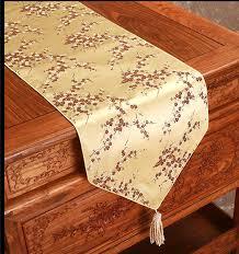 luxury damask table runner ethnic luxury long silk table runner wedding decor table mats for