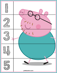 peppa pig number puzzles activities toddlers autism