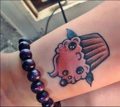 25 attractive cupcake wrist tattoos