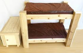 Bunk Bed For Dogs Amazon Com Bark U0027s Big Dog Bunk Bed With Toy Chest Step Up