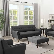Charcoal Tufted Sofa by Discount Living Room Furniture Couches Loveseats Sofa Sectionals