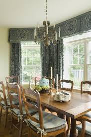 Rustic Curtains And Drapes Inverted Box Pleated Valances Dining Room Rustic With Wood Dining