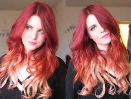 dye bottom hair tips still in style under color red and blonde google search my style pinterest