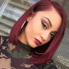 Light Burgundy Hair Collections Of Burgundy Bob Hairstyle Cute Hairstyles For Girls