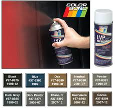 colorbond spray matches all your interior colors 1999 13 chevy