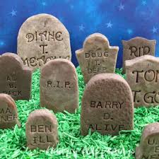 Clever Outdoor Halloween Decorations funny halloween tombstones scary homemade halloween decorations
