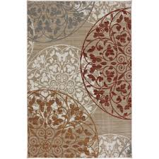 Orange And Brown Area Rugs Mohawk Home Medallion Printed Area Rug Walmart Com