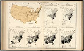 1840 Map Of The United States by Plate 67 States And Cities Population 1930 Slaves 1790 1840
