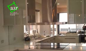 Kitchen Splashbacks Tiny 2 Kitchen With Mirror Splashback On Toughened Mirror Kitchen