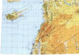Map Of Lebanon Download Topographic Map In Area Of Damascus Beirut Tel Aviv