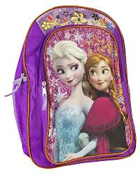 disney u0027s frozen anna u0026 elsa purple backpack