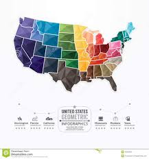 Image Of United States Map by United States Map Infographic Template Geometric Concept Banner