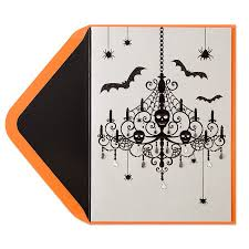 halloween greeting cards black spooky chandelier halloween that spooky time