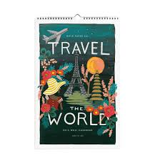 design wall calendar 2015 2015 travel the world wall calendar by rifle paper co made in usa