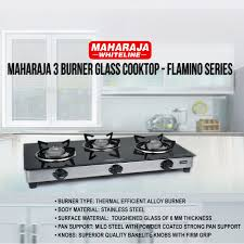 Best Glass Cooktop Buy Maharaja 3 Burner Glass Cooktop Flamino Series Online At