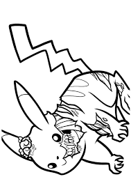 zombie coloring pages pikachu coloringstar