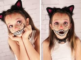 Pretty Makeup For Halloween by Grosgrain Cheshire Cat Face Halloween Makeup