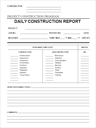 Construction Expense Report Template by Daily Activity Report Template Word Brockband