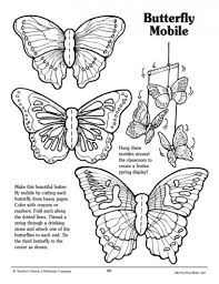 butterfly mobile pattern parents scholastic