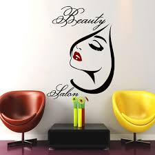 Beautiful Wall Stickers For Room Interior Design Beauty Salon Wall Art Decal Vinyl Decals Sticker Barbershop