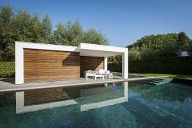 Pool House Ideas by Modern Poolhouse Bogarden Huishouden Pinterest Pool Houses