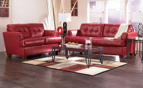 modern contemporary red and black leather reclining sofa with