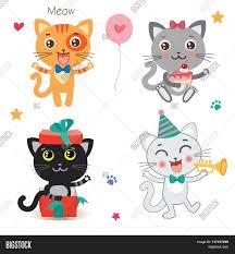 Cartoon Cat Memes - set cute little cats cartoon vector photo bigstock