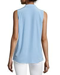 periwinkle blouse equipment adalyn printed sleeveless silk blouse periwinkle blue