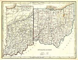 Map Indiana The Usgenweb Archives Digital Map Library Ohio State Maps