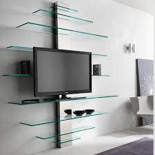 Kitchen Wall Shelves Elegant Wall Mounted Tv Shelves Glass 44 For Sports Wall Shelves
