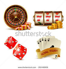 casino design elements cards chips slot stock vector 282498956