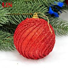 ceiling 8cm christmas red thread decorative foam decoration natal