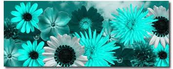 teal flowers teal canvas modern floral prints bespoke