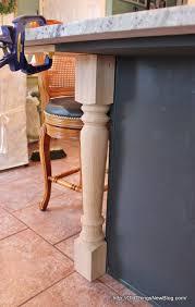 kitchen island legs things adding substance to a boxy kitchen island part 2