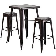 metal bar table set antique metal bar table set free shipping today overstock com