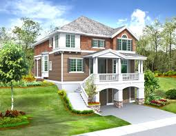 sloped lot house plans walkout basement basements ideas in home
