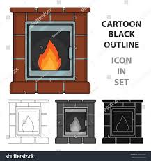 fire warmth comfort fireplace single icon stock vector 709853368