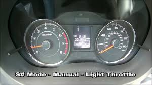 subaru forester xt cvt driving modes comparison youtube