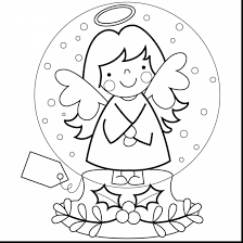 wonderful christmas snow globes coloring pages with snow coloring