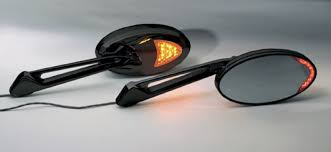 mirledbk u2013 black motorcycle mirrors with led turn signals