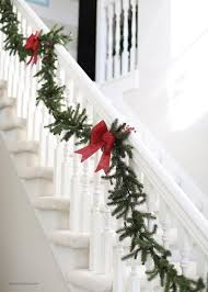 best 25 garland for stairs ideas on stair rail