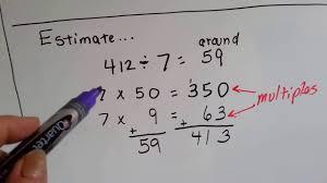 grade 4 math 4 1 estimate quotients using multiples youtube