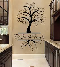 family tree wall decal family tree decal two colors wall decals wall 21 color chart tree family tree decal