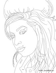 amy winehouse british singer coloring page more famous people