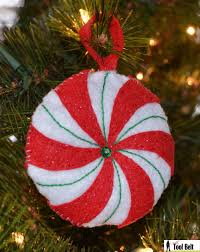3rd day of christmas stacked felt christmas tree ornament her