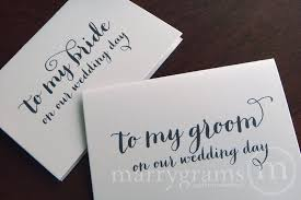 card from to groom my husband on our wedding day card or groom thick style