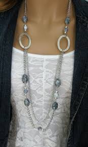 long bead chain necklace images Long grey chunky beaded necklace multi strand by ralstonoriginals jpg